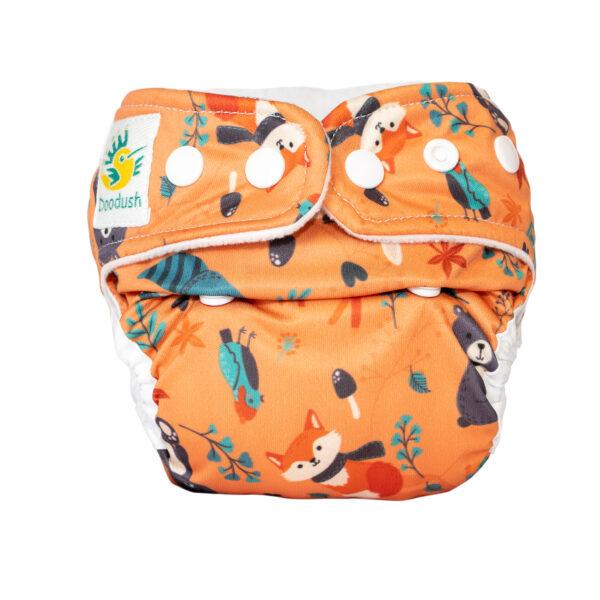Doodush Stoffwindel Überhose Onesize oder XL Motiv Orange Forrest