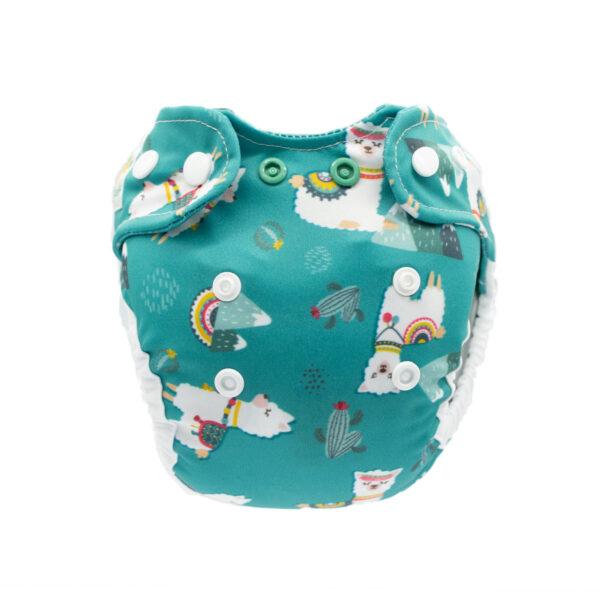 Doodush Stoffwindel Überhose Newborn Motiv Turquoise Liamas